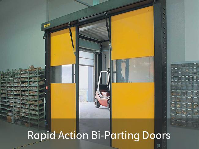 Rapid Action Bi-Parting Doors