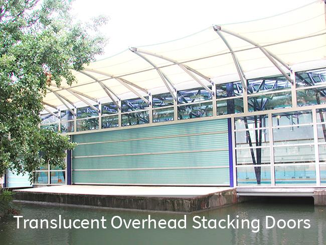 Translucent Overhead Stacking Doors