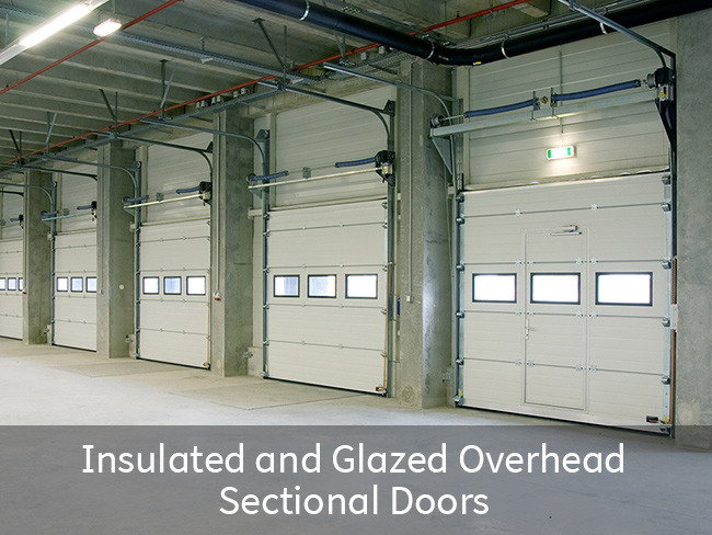 Insulated and Glazed Overhead Sectional Doors