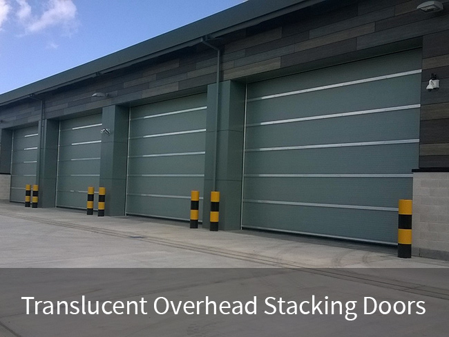 Translucent Overhead Stacking Doors
