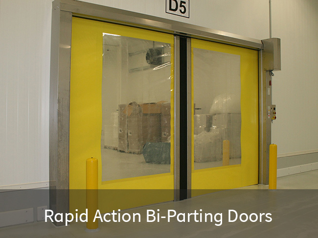Rapid Acting Bi-Parting Doors