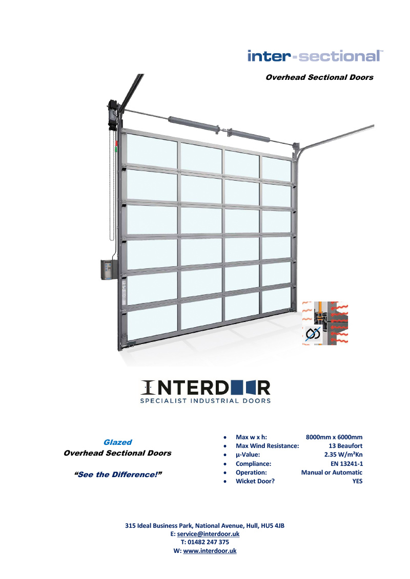 INT1 Vision Sectional Technical Data Sheet